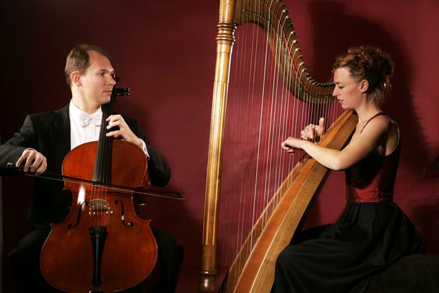 Cello und Harfe